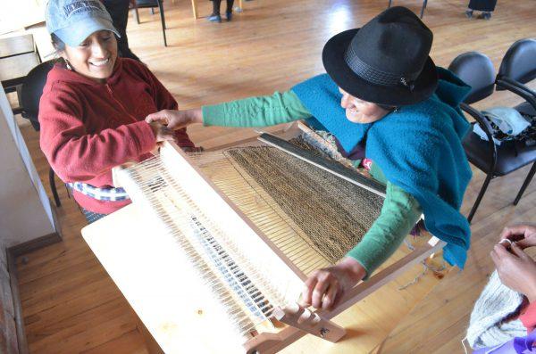 Photo prise lors de la formation laine à Palacio real.