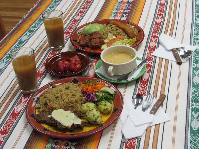 Un repas à base de Lama.