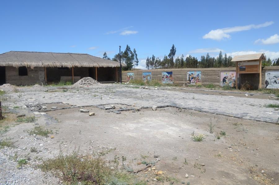 Nous récupérons les pavés de la ville de Riobamba pour aménager la terasse de la Hacienda
