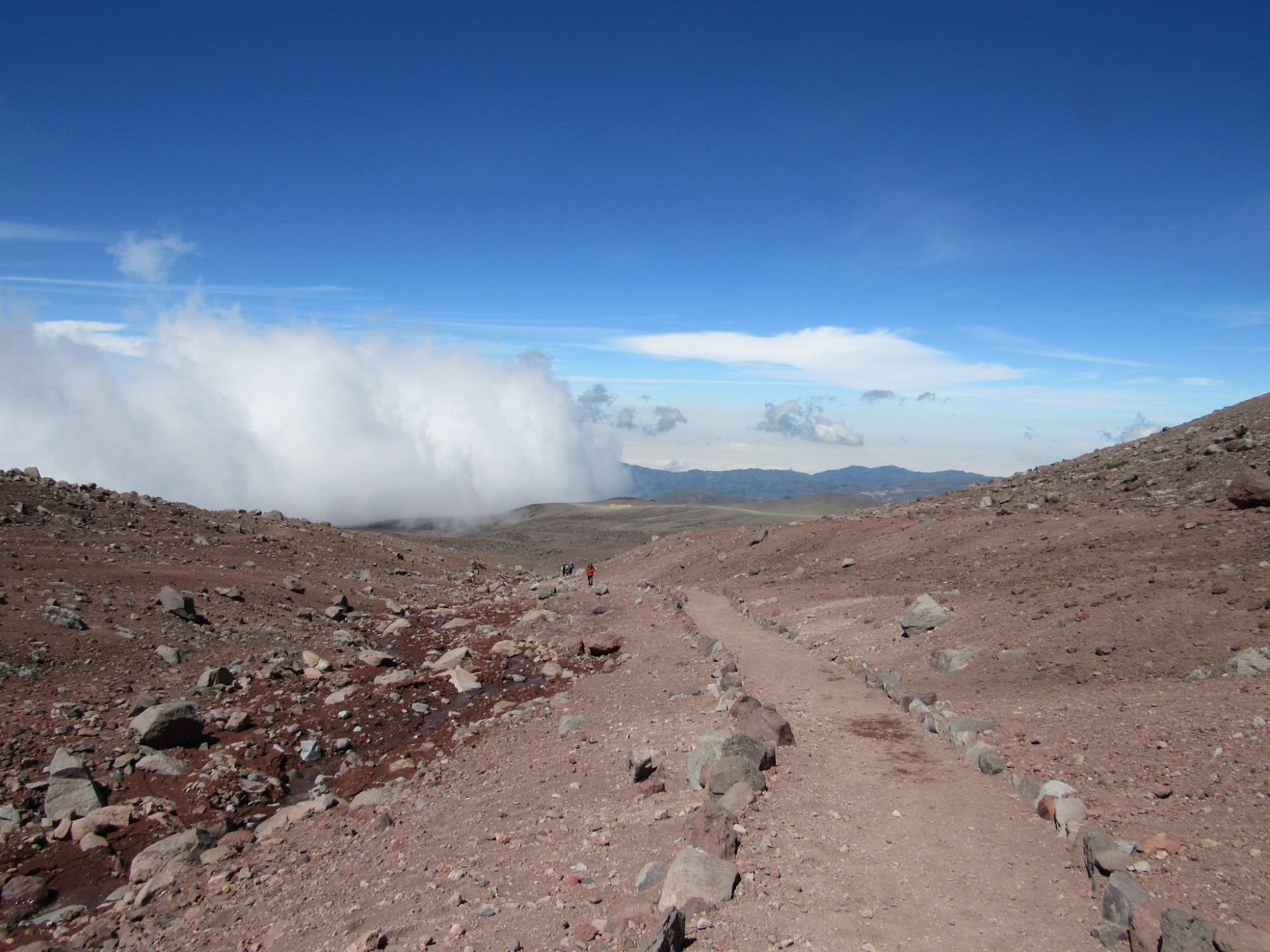 Chemin de randonnée proche du Chimborazo.