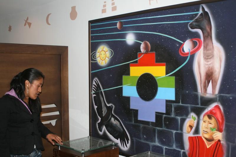 Photo prise dans le musée du Lama.