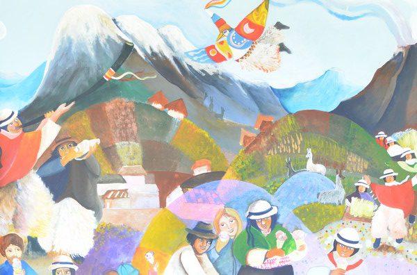 Peinture du restaurant de la Moya.