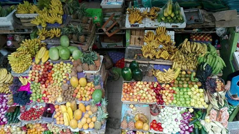 Étals sur le marché de Cuenca
