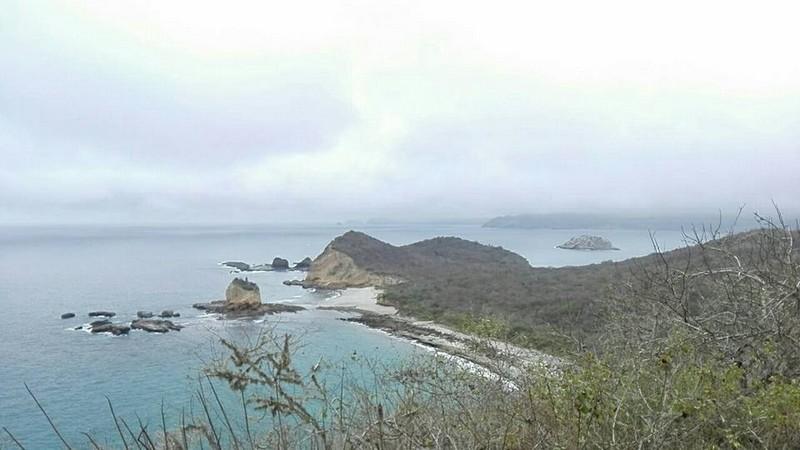 Vue des plages de Los Frailes depuis le mirador.